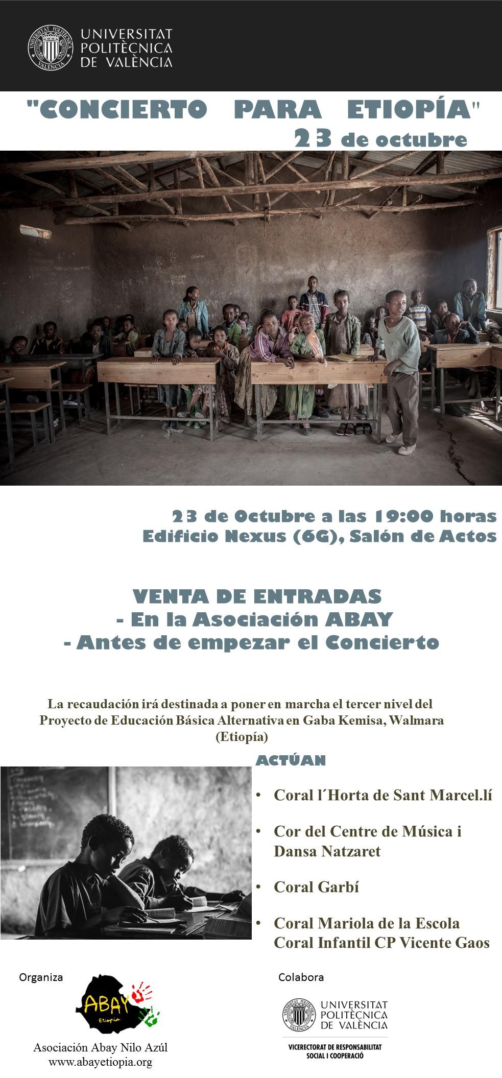 Concierto para Etiopía en la Universidad Politécnica de Valencia @ Edificio Nexus, Salón de Actos